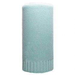 Bambusz kötött takaró NEW BABY 100x80 cm menta