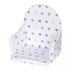 Újszülött szűkítő betét a New Baby Victory etetőszékhez fehér csillagok