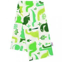 Flanel pelenka nyomtatott mintával New Baby fehér Dino zöld