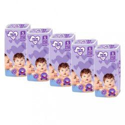 MEGAPACK Gyermek eldobható pelenka New Love Premium comfort 5 JUNIOR 11-25 kg 5x38 db