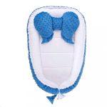 Babafészek kisbabák számára Minky Teddy Bear Belisima türkiz
