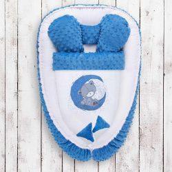 Babafészek paplannal kisbabák számára Minky Teddy Bear Belisima
