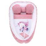 Babafészek paplannal kisbabák számára Minky Belisima Unicorn