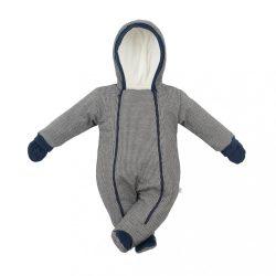 Baba téli kezeslábas kapucnival és kesztyűvel Baby Service Retro