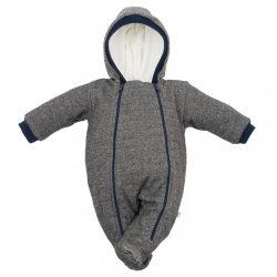 Baba téli kezeslábas kapucnival Baby Service Retro szürke