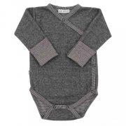 Téli baba patentos body Baby Service Retro szürke