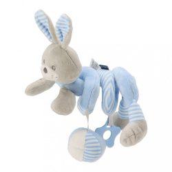 Spirálos játék kiságyra Baby Mix nyúl kék