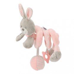 Spirálos játék kiságyra Baby Mix nyúl rózsaszín