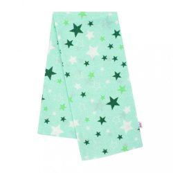 Flanel pelenka nyomtatott mintával New Baby zöld csillagok zöld