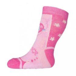 Baba zokni New Baby ABS-el rózsaszín madárka