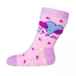 Baba zokni New Baby ABS-el rózsaszín szívecske sweet