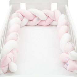 Védő fonott rácsvédő kiságyba New Baby Nyuszi rózsaszín