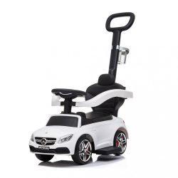 Gyermek jármű vezető rúddal Mercedes Benz AMG C63 Coupe Bayo white