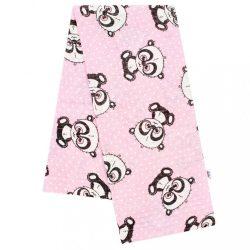 Pamut mintás pelenka New Baby rózsaszín panda fehér pöttyös