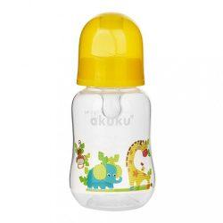 Cumisüveg képel Akuku 125 ml sárga zsiráf
