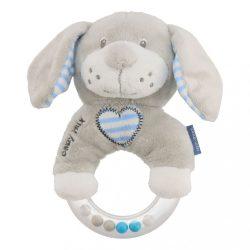 Csörgős plüss játék Baby Mix kutya kék