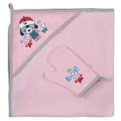 Kifogó fürdőkesztyűvel Koala Ahoy! rózsaszín