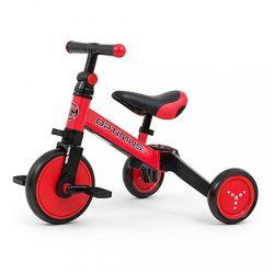 Gyerek háromkerekű bicikli 3az1-ben Milly Mally Optimus red