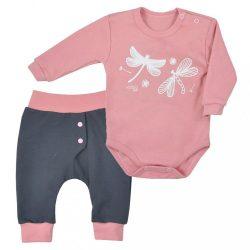 2-részes baba együttes Koala Szitakötő rózsaszín