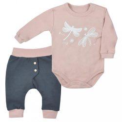 2-részes baba együttes Koala Szitakötő vintage rózsaszín