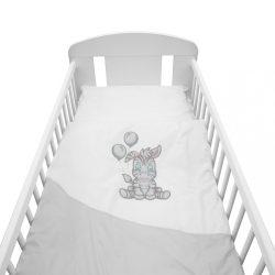 2-részes ágyneműhuzat New Baby Zebra exclusive 100/135 fehér-szürke