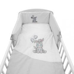 3-részes ágyneműhuzat New Baby Zebra exclusive 90/120 fehér-szürke