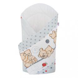 Pólyakendő New Baby világos szürke macival