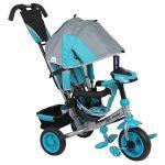 Gyerek háromkerekű bicikli  Baby Mix Lux Trike szürke-kék