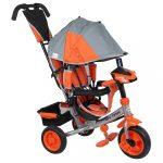 Gyerek háromkerekű bicikli  Baby Mix Lux Trike szürke-narancssárga