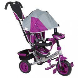 Gyerek háromkerekű bicikli  Baby Mix Lux Trike szürke rózsaszín