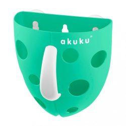 Műanyag fürdőjáték tároló Akuku menta