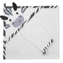Kifogó fürdőkesztyűvel Koala Happy Zebra white