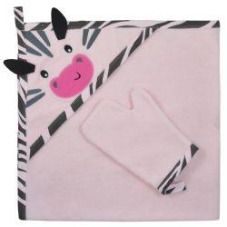 Kifogó fürdőkesztyűvel Koala Happy Zebra pink