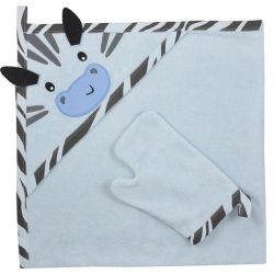 Kifogó fürdőkesztyűvel Koala Happy Zebra blue