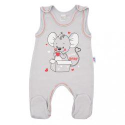 Baba rugdalózó New Baby Mouse szürke