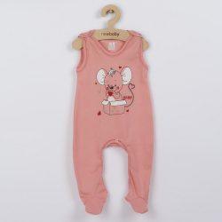 Baba rugdalózó New Baby Mouse lazac szín