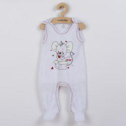 Baba rugdalózó New Baby Mouse fehér
