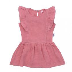 Baba muszlin ruha New Baby Summer Nature Collection rózsaszín