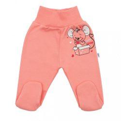 Baba lábfejes nadrág New Baby Mouse lazac szín