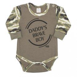 Baba hosszú ujjú body New Baby Army boy