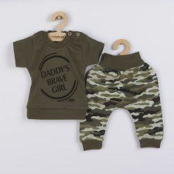2-részes baba együttes New Baby Army girl