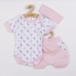 3-részes nyári pamut együttes New Baby Perfect Summer rózsaszín