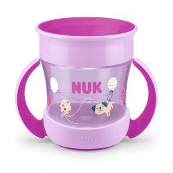 Bájos itató pohár Mini Magic NUK 360° fedéllel lila