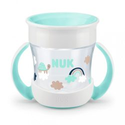 Bájos itató pohár Mini Magic NUK 360° fedéllel türkiz