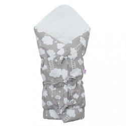 Klasszikus megkötős pólya New Baby Felhőcske szürke