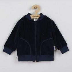 Szemis pulóver szürke New Baby Baby sötétkék