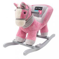 Hintajáték dallammal PlayTo rózsaszín lovacska