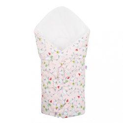 Klasszikus megkötős pólya New Baby Madárka rózsaszín