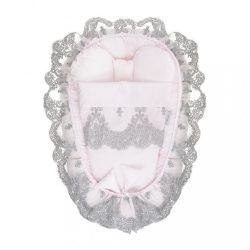 Babafészek paplannal kisbabák számára Belisima Belisima rózsaszín