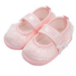 Baba kislányos cipő New Baby szatén rózsaszín 3-6 h
